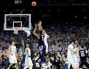 KRIS JENKINS SIGNED PHOTO 8X10 RP AUTOGRAPHED VILLANOVA CHAMPS  BUZZER BEATER