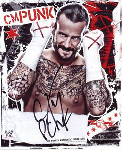 CM PUNK SIGNED PHOTO 8X10 RP AUTOGRAPHED WWE WRESTLING COLLECTIBLE PICTURE