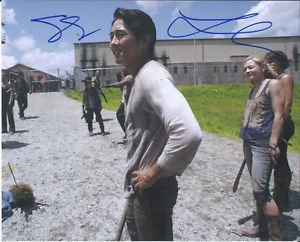 LAUREN COHAN & STEVEN YEUN SIGNED PHOTO 8X10 RP AUTOGRAPHED WALKING DEAD