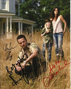 WALKING DEAD CAST SIGNED PHOTO 8X10 RP AUTOGRAPHED ANDREW LINCOLN CHANDLER RIGGS