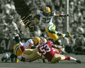 ** EDDIE LACY SIGNED PHOTO 8X10 RP AUTOGRAPHED GREEN BAY PACKERS FOOTBALL !