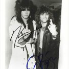 "NIKKI SIXX & JON BON JOVI SIGNED POSTER PHOTO 8X10 RP AUTOGRAPHED "" THE BIRD """
