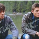 JENSEN ACKLES JARED PADALECKI SIGNED PHOTO 8X10 RP AUTOGRAPH SUPERNATURAL CAST