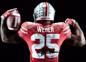 MIKE WEBER SIGNED PHOTO 8X10 RP AUTOGRAPHED OHIO STATE BUCKEYES