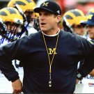* JIM HARBAUGH SIGNED PHOTO 8X10 RP AUTOGRAPHED MICHIGAN WOLVERINES GO BLUE !