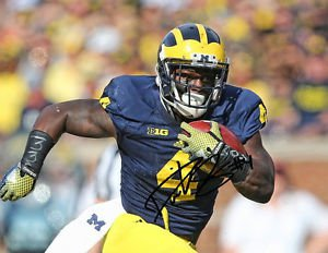 DE'VEON SMITH  SIGNED PHOTO 8X10 RP AUTOGRAPHED MICHIGAN WOLVERINES FOOTBALL