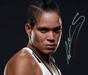 AMANDA NUNES SIGNED PHOTO 8X10 RP AUTOGRAPHED UFC STRIKEFORCE