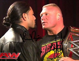 BROCK LESNAR ROMAN REIGNS SIGNED PHOTO 8X10 RP AUTOGRAPHED WWE WRESTLING UFC