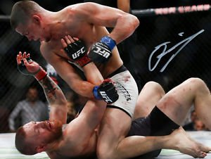 NATE DIAZ VS CONOR MCGREGOR SIGNED PHOTO 8X10 RP AUTOGRAPHED MMA UFC FIGHTING