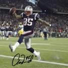 AARON HERNANDEZ SIGNED PHOTO 8X10 RP AUTOGRAPHED NEW ENGLAND TOUCHDOWN !