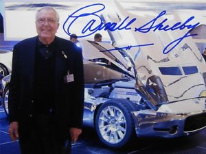 CARROLL SHELBY SIGNED PHOTO 8X10 RP AUTOGRAPHED  COBRA