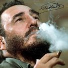 FIDEL CASTRO SIGNED PHOTO 8X10 RP AUTOGRAPHED CUBAN REVOLUTION