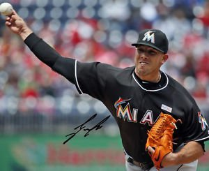 ** JOSE FERNANDEZ SIGNED PHOTO 8X10 RP AUTOGRAPHED MIAMI MARLINS