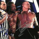THE UNDERTAKER SHAWN MICHAELS TRIPLE H SIGNED PHOTO 8X10 RP AUTOGRAPHED