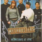 MYTHBUSTERS ORIGINAL FULL CAST SIGNED PHOTO 8X10 RP AUTOGRAPH GROUP KARI BYRON