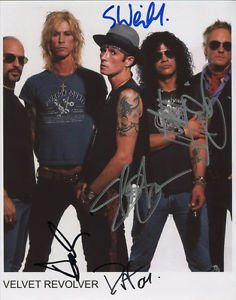 SCOTT WEILAND  VELVET REVOLVER BAND SIGNED PHOTO 8X10 RP AUTOGRAPHED ALL MEMBERS