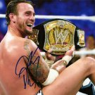 CM PUNK SIGNED PHOTO 8X10 RP AUTOGRAPHED WWE WRESTLING UFC MMA