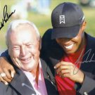 ARNOLD PALMER & TIGER WOODS SIGNED PHOTO 8X10 RP AUTOGRAPHED GOLF LEGEND