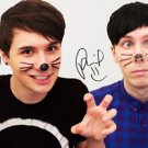 DAN AND PHIL SIGNED PHOTO 8X10 RP AUTOGRAPHED YOUTUBE COMEDIANS