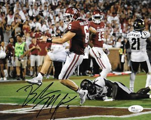 * BAKER MAYFIELD SIGNED PHOTO 8X10 RP AUTOGRAPHED OKLAHOMA SOONERS