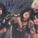 MOTLEY CRUE FULL BAND SIGNED PHOTO 8X10 RP AUTOGRAPHED NIKKI SIXX VINCE NEIL ++