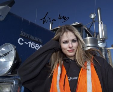 LISA KELLY SIGNED PHOTO 8X10 RP AUTOGRAPHED ICE ROAD TRUCKERS