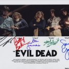 EVIL DEAD FULL CAST SIGNED PHOTO 8X10 RP AUTOGRAPHED BRUCE CAMPBELL + ALL