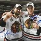 JONATHAN TOEWS PATRICK SHARP SIGNED PHOTO 8X10 RP AUTOGRAPHED CHICAGO BLACKHAWKS