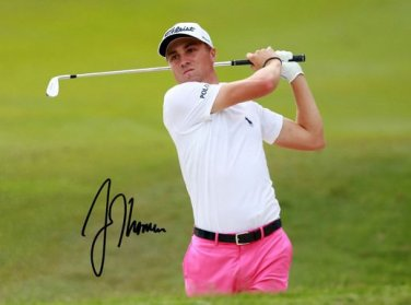 * JUSTIN THOMAS SIGNED PHOTO 8X10 RP AUTOGRAPHED GOLF PRO
