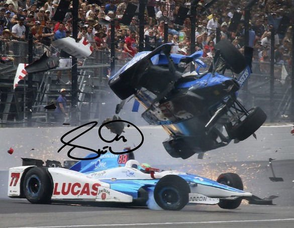 SCOTT DIXON SIGNED PHOTO 8X10 RP AUTOGRAPHED ** INDY 500 CRASH !