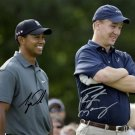TIGER WOODS & PEYTON MANNING SIGNED PHOTO 8X10 RP AUTOGRAPHED CHARITY EVENT