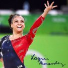 LAURIE HERNANDEZ SIGNED PHOTO 8X10 RP AUTOGRAPHED GYMNASTICS OLYMPICS