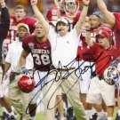* BOB STOOPS SIGNED PHOTO 8X10 RP AUTOGRAPHED * OKLAHOMA SOONERS *