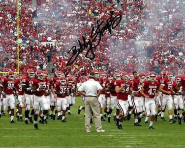 * BOB STOOPS SIGNED PHOTO 8X10 RP AUTOGRAPHED * OKLAHOMA SOONERS