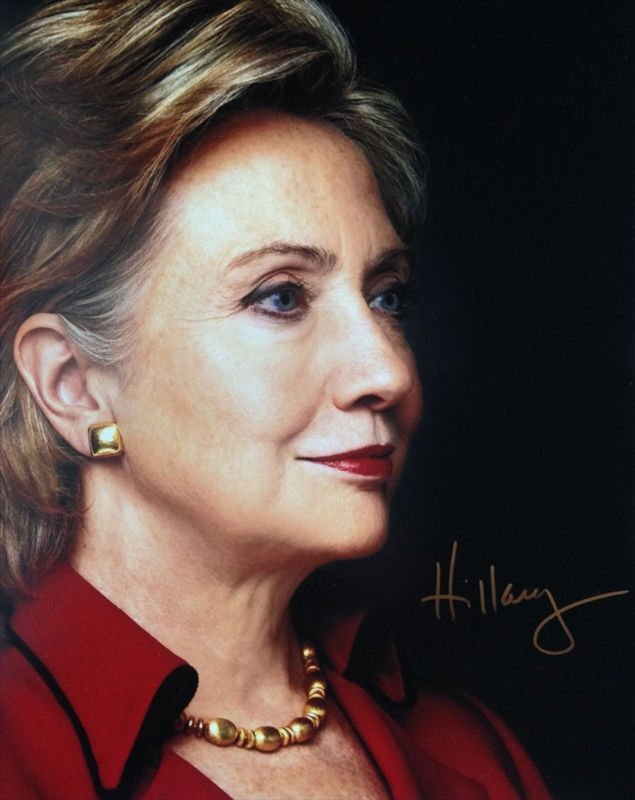 HILLARY RODHAM CLINTON SIGNED PHOTO 8X10 RP AUTOGRAPHED SECRETARY OF STATE