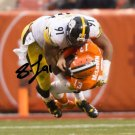 * STEELERS STEPHON TUITT SIGNED PHOTO 8X10 RP AUTOGRAPHED PITTSBURGH SACK !