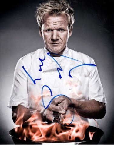 CHEF GORDON RAMSAY SIGNED PHOTO 8X10 RP AUTOGRAPHED HELLS KITCHEN
