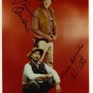 JAMES ARNESS & KEN CURTIS SIGNED PHOTO 8X10 RP AUTOGRAPHED JIM GUNSMOKE CAST