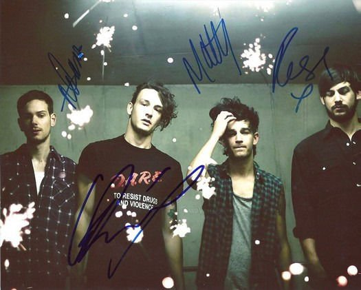 * THE 1975 FULL GROUP BAND SIGNED PHOTO 8X10 RP AUTOGRAPHED VINYL * ALL MEMBERS