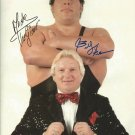 ANDRE THE GIANT & BOBBY HEENAN SIGNED PHOTO 8X10 RP AUTOGRAPHED WWF WWE