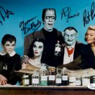 MUNSTERS FULL CAST SIGNED PHOTO 8X10 RP AUTOGRAPHED YVONNE DE CARLO FRED GWYNNE + ALL