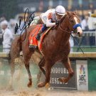 JUSTIFY MIKE SMITH SIGNED PHOTO 8X10 RP AUTOGRAPHED TRIPLE CROWN CHAMPION