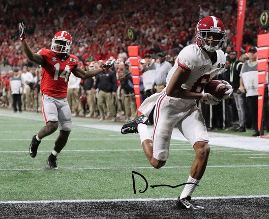 DEVONTA SMITH SIGNED PHOTO 8X10 RP AUTOGRAPHED NATIONAL CHAMPIONSHIP