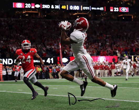 DEVONTA SMITH SIGNED PHOTO 8X10 RP AUTOGRAPHED * NATIONAL CHAMPIONSHIP