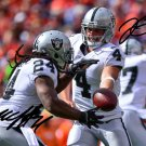 MARSHAWN LYNCH DEREK CARR SIGNED PHOTO 8X10 RP AUTOGRAPHED OAKLAND RAIDERS