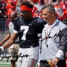 URBAN MEYER & DWAYNE HASKINS JR SIGNED PHOTO 8X10 RP AUTOGRAPHED OHIO STATE