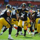 BEN ROETHLISBERGER JAMES CONNER SIGNED PHOTO 8X10 RP AUTOGRAPHED
