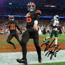 BAKER MAYFIELD SIGNED PHOTO 8X10 RP AUTOGRAPHED CLEVELAND BROWNS FOOTBALL !