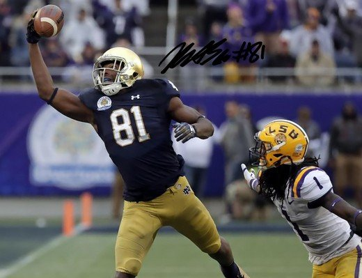 MILES BOYKIN SIGNED PHOTO 8X10 RP AUTOGRAPHED NOTRE DAME FOOTBALL !
