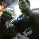 STAN LEE MARK RUFFALO SIGNED PHOTO 8X10 RP AUTOGRAPHED MARVEL COMICS